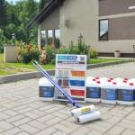 Гидрофобизация тротуарной плитки в коттеджном поселка Янино-2